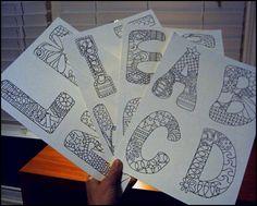 Draw Doodle and Decorate: Alphabet Doodles…half way