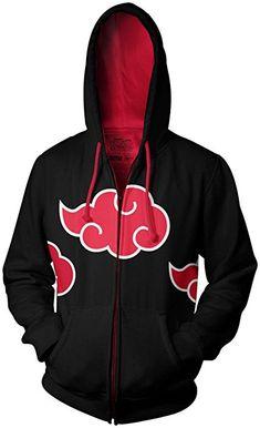 Naruto Shippuden Akatsuki Red Clouds Adult Black Zip Up Hoodie (Medium) Boruto, Naruto Shippuden, Anime Outfits, Cool Outfits, Mode Geek, Naruto Clothing, Moda Pop, Red Cloud, Otaku