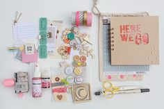 Travel Craft Kit: Elizabeth Kartchner blog.  She notes all the supplies and how she did it.