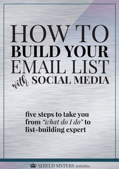So many people are missing out on the ONE thing that can really build their email list like crazy: SOCIAL MEDIA! Click through to read how to build your list with social media and pin this for your friends!