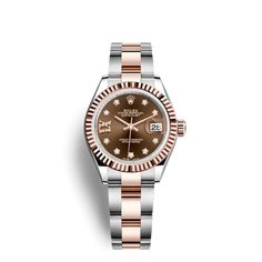 1a393e3933eda Discover the Lady-Datejust 28 watch in Everose Rolesor - combination of  904L steel and 18 ct Everose gold on the Official Rolex Website. Model   279171