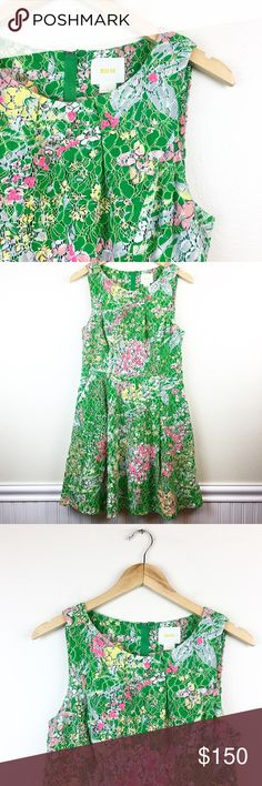 """Maeve Anthropologie Lace Verbena Size 8 Dress Maeve Women's Dress •Size: 8 •Color: Green with Floral design Measurements •Bust - Measured across chest with dress laying flat: 16"""" •Waist - Measured across waist with dress laying flat: 15"""" •Length - Measured Top to bottom: 35"""" Pre-Owned and Worn, But Good Condition: No Rips, Tears, Or Stains  HAPPY POSHING! Storage Code: F57 Anthropologie Dresses Mini"""