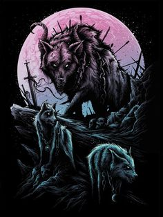 Imagem de mythical creature, norse, and fenrir