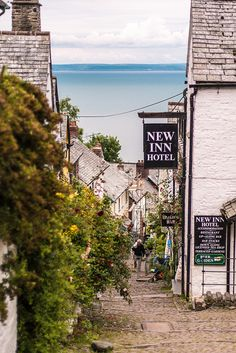 Clovelly, UK, the Capt & I stayed here in 2009 at the The Red Lion Hotel which stands down on the quay alongside Clovelly's ancient harbour..