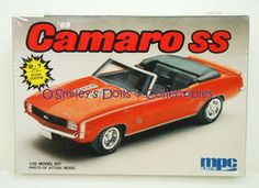 mpc by ERTL® Authentic Scale Model 2 in 1 Build... Vintage 1987 Original (Not Nostalgic Series)... 1969 CAMARO SS... <>... SPECS... v SKILL 2+ (Requires Gluing, Painting, Assembly)... v Ages 10+... v 1:25 Scale... v 75+ Pieces... v Product 6283... FEATURES... v 1969 Camaro SS body accurately molded