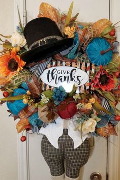 Collection of fall, Halloween and Christmas wreaths made with mesh, florals, grapevine, signs and seasonal decorations. Thanksgiving Wreaths, Holiday Wreaths, Holiday Crafts, Old World Christmas Ornaments, Christmas Decorations, Wreath Making Supplies, Wreath Forms, Trendy Tree, Wreath Tutorial