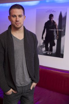 TATUM TUESDAY: Channing Tatum behind-the-scenes at the White House Down teaser trailer event in London. Haven't seen the trailer yet? WATCH...http://youtu.be/-iskWMdbEuA