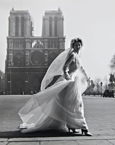 Vintage Bride :: Christian Dior, 1949. Photo by Willy Maywald.