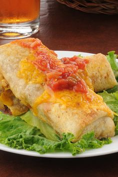 Baked Beef and Bean Chimichangas Recipe, But switch to string beef and absolutely NO bell peppers for me, thanks. Allergic.