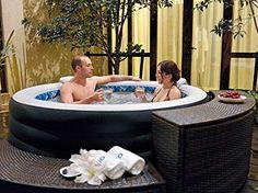 Jilong Avenli 4-Person Spa Prolong Inflatable Hot Tub, Black