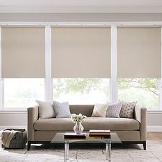 The Real Simple Cordless Roller Shade features a thermal back for better light control, energy efficiency and a uniform exterior look from the outside. It's also cordless and provides improved safety for homes with children and pets.