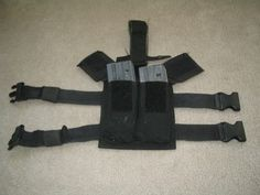 $50.00 U.S. MILITARY ISSUE DROP RIG/HOLSTER ATTACHES TO DUTY BELT / THIGH POUCH (MAGAZINE)