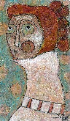 | folk art girl via John R. Math