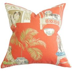The Pillow Collection Zuzela Animal Bedding Sham Color: Clay, Size: Queen