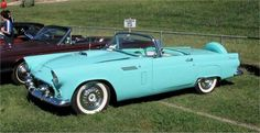 1956  During the next five decades, Thunderbird went through several design changes with coupes, sedans, convertibles, hardtops, and mid-size and large-size configurations.