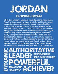 JORDAN Personalized Name Print / Typography Print / by OhBabyNames