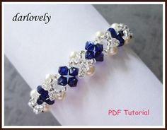Creamrose Pearl Blue Bracelet   Craftsy