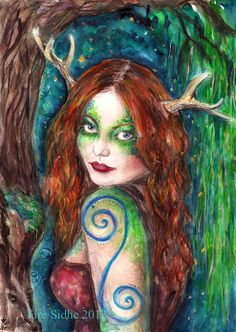 Beltane Blessings  Print by LauraRedWitch on Etsy, £10.00  See the artists online store here:  http://www.etsy.com/shop/LauraRedWitch?ref=seller_info
