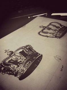 Crowns <3 #crowns#mydrawing#firsttime#:P *.*