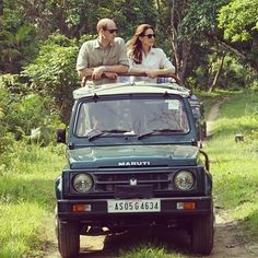 The Duke and Duchess on their safari drive through the incredible Kaziranga National Park in this morning. Their Royal Highnesses spotted rhino, water buffalo, swamp deer and a number of bird species Prince William And Kate, William Kate, Prince And Princess, Princess Kate, Princess Charlotte, Duke And Duchess, Duchess Of Cambridge, Kate Middleton, British Royals