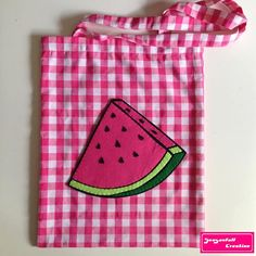 Tote bag Watermelon par Seasonfall sur Etsy #watermelon #sandia #pasteque #fruits #frutas #totebag #spring #summer #diy #handmade #piquenique #pink #food