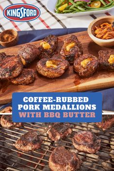 Think pork can& get any better? These coffee rubbed medallions with homemade bbq butter are next level. Tap the Pin to learn more. Pork Tenderloin Recipes, Pork Chop Recipes, Grilling Recipes, Meat Recipes, Cooking Recipes, Coffee Recipes, Pork Chops, Pork Tenderloin Medallions, Grilled Pork