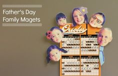 Family Fathers Day magnets from make and takes