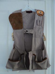 35beb91a8c1e3 Vintage hunting Shooting Vest Shotgun Sportsman Club Vest with patches Size  36 | eBay