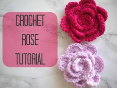 CROCHET: How to crochet a rose/flower | Bella Coco - YouTube