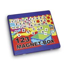 """Magnet """"Mathematik"""". 100 Zahlen, Rechenzeichen und Rechenstäbe helfen spielerisch die Welt der Mathematik zu verstehen! Auf der Karte können auch in der Box Rechenaufgaben gelegt werden."""