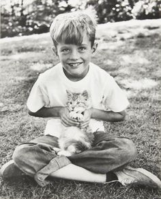 Peter Fonda & kitten, c.1950