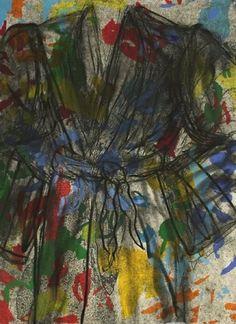 JIM DINE The Gravel Road 2015 Woodcut, collagraph, intaglio and copperplate etching 52-3/4″ x 37″ / 136.5 x 94 cm Edition of 12 + 3AP Jonathan Novak Contemporary Art, Los Angeles http://novakart.com/artists/jim-dine/ #jimdine #bathrobe #robe