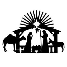 Nativity Custom Stencil Custom Stencils Multiple Sizes image 1 - Melissa W Soderlund Angel Silhouette, Nativity Silhouette, Silhouette Clip Art, Silhouette Images, Free Silhouette, Christmas Nativity, Christmas Angels, Christmas Art, Christmas Projects