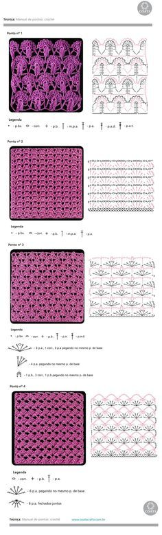 #Crochet_Stitches -- Some very pretty stitches to try from #KnittingGuru