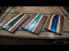 How to Make Epoxy Cutting Boards – Money makers – Epoxi Wood Resin Table, Epoxy Resin Table, Epoxy Resin Art, Diy Epoxy, Diy Resin Art, Diy Resin Crafts, Diy Resin River Table, Resin And Wood Diy, Wood Tables