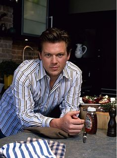 Tyler Florence! One of the sexiest chefs ever. I've made a lot of his recipes and they are fantastic! I've even met him and he proposed...lol ;) great guy!!!