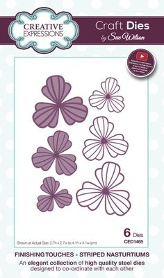 Creative Expressions Craft Dies by Sue Wilson - Finishing Touches Collection - Striped Nasturtiums