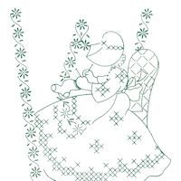 Sun Bonnet Gals Days of the Week Embroidery Transfers