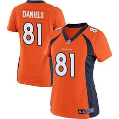 Nike Broncos Blank Orange Team Color Men's Stitched NFL Elite Jersey