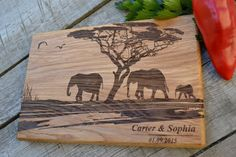 Personal Engraving For Wedding Cutting Board by Woodencook on Etsy
