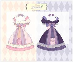 [END] Rose n Lavender Outfit Adopt Raffle by Black-Quose on DeviantArt Fashion Design Drawings, Fashion Sketches, Lavender Outfit, Drawing Anime Clothes, Anime Dress, Character Outfits, Anime Outfits, Character Design Inspiration, Costume Design