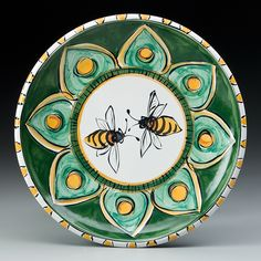 This is the person who taught me majolica pottery. Karin Kramer