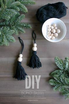 Crazy Wonderful: DIY boho christmas ornaments