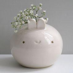 Tiny Bunny Vase by Pretty Random Objects