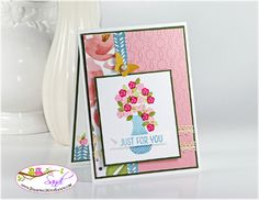Floral Wings card for Stamping and Blogging Sketch #115 www.stampingwithsandi.com