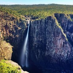 The impressive Wallaman Falls in Townsville Sunshine State, Coastal, Australia, Island, Waterfalls, Amazing, Bucket, Outdoor, Country
