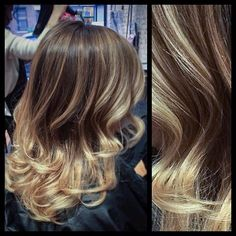 Blonde balayage. This is what I'm working on right now! (: