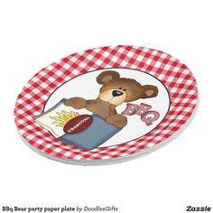 BBq Bear party paper plate  sc 1 st  Pinterest & Birthday Mouse fun party paper plate | Custom Party PAPER PLATES ...
