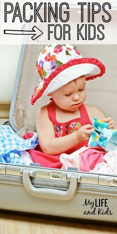 If you love vacation, but hate packing, here are 10 packing tips for kids that will get that suitcase closed! Great travel tips for busy moms!