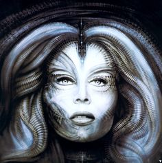 "Giger: Surrealist Artist and ""Alien"" DesignerH. Giger, actually less known for his full name, Hans Ruedi Giger, is a Swiss artist who created highly influential artwork in the style of. Zurich, Giger Art, Hr Giger, Giger Alien, Surreal Artwork, Alien Art, Dark Art, Background Images, Wallpaper Backgrounds"